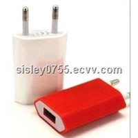for iphone4s universal flat colorful usb wall charger