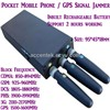 Portable Mini Mobile Phone Signal Jammer Stopper Isolator Blocking CDMA/GSM/3G/DCS/PHS GPS Signal W/ Inbuilt Battery