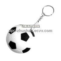 China Supplier OEM Keychain Football Pendrive
