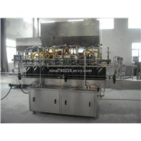Glass bottle Olive oil filling and sealing machine,motor oil filler