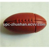 Popular Rugby Ball Shaped OEM 2gb 4gb USB Flash Disk