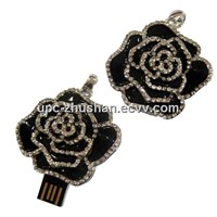 Real Memory Gifts Flower Diamond USB Flash Driver