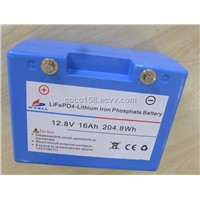 12.8V16AH-20AH LiFePO4 battery for golf trolley
