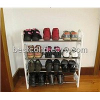 4 Tier Stackable Storage Shoe Rack Holder 12 Pair