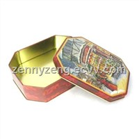 8 sides tin cans Gift tins  Food tins Metal tins boxes from Marshallom