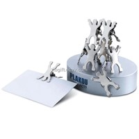 8pcs Metal Paper Clips Holder with Magnet