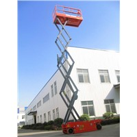 Construction machine scissor lift