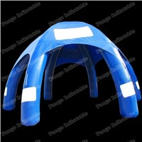 Deep blue inflatable tent