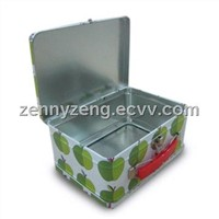 Handle Tins, Metal Lunch Tin boxes, Gift tins ,Tin Lunch box with handle