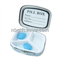 Metal Gift Pill Case