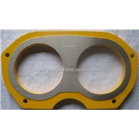 Niigata concrete pump spare parts spectacle wear plate DN 210