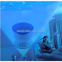 Ocean Sea Waves LED Night Light Projector Speaker Lamp