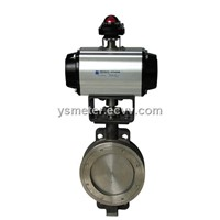 PNEUMATIC DOUBLE OFFSET BUTTERFLY VALVE