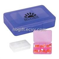 Plastic Rectangle Pocket Pill Holder