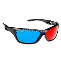 Plastic red cyan 3D glasses anaglyph red blue for PC