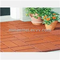 Porch rubber tile flooring/Rubber mat