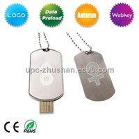 Promotional Gifts Dog Tag USB Flash Memory Pen Drive (UPC-J163)