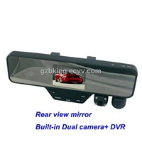 Rear view camera with built-in camera+DVR