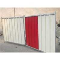 Red/White Colourbond Fence Panel