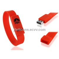Silicone USB bracelet for promotion