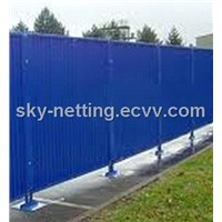 Steel Hoarding u-Profile 60-40-60mm Frame Pipe 48mm Panel Thickness 2000x2160mm