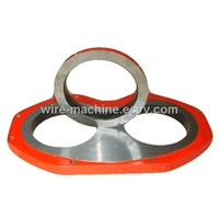Zoomlion concrete pump spare parts wear plate DN230 and wear cutting ring