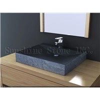 absolute black art stone sink 245