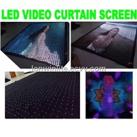 led star curtain screen/led video curtain screen/RGB curtain screen/stage curtain lights