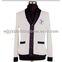 Men Sweater Cardingan Knitted Wear
