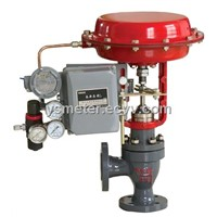 pneumatic angle control valve with smart positioner