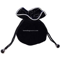 Velvet Pearls Bag (KM-VEB0110), Velvet Bag, Gift Bag, Jewelry Bag, Drawstring Bag