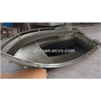fully welded aluminum boat v front