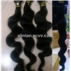 HOT 8-20inch 100% Indian Virgin Human Hair Weave Extension Body Wave Hair Weft Black Free Shipping