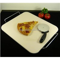 "14x16"" Ceramic Square Pizza Stone"