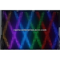High Resolution P7 2M*3M 1176 leds LED Video Curtain With PC Mode For DJ Wedding Backdrops