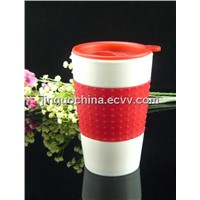 Porcelain Coffee Mug Travel Mug with Lid