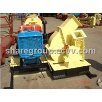 1000kg/h diesel wood chipper