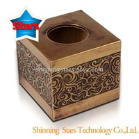 100% Handwork Plain PU Tissue Holder