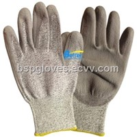 13 Guage HPPE Shell With PU Dipped Cut Resistant Work Gloves BGDP101