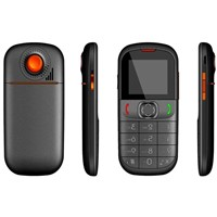 1.8 inch dual sim card elder/Senior mobile phone GSM 900/1800/850/1900MHz GPS(Optional)+torch+CE