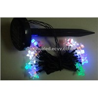20 LED solar hoilday christmas decoration string light with star