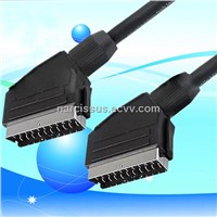 21pin scart cable male to male