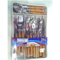 24pcs stainless steel flatware set