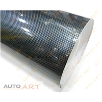 2D gloss carbon vinyl wrap for cars silver black
