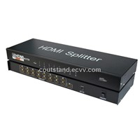 3D support 1x16 Port HDMI Splitter with HDCP compliant &HDMI 1.4v