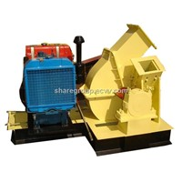 3-4 Tons mobile wood chipper with CE certificate