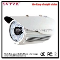 420/540/700TVL 1/3 sony CCD White high power Led light color image infrared night vision cctv camera