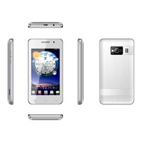 4.0 inch touch screen PDA mobile phone (dual sim card/low end/built-in Games)