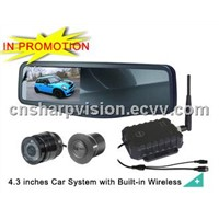 4.3 inches car reversing camera system with Built-in Wireless DW-144D,CW-637,CW-085,WT-434