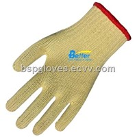 7 Guage100% Aramid Fiber Seamless Knitted Anti Cut Work Gloves BGKK071